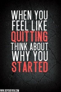 Change Habits - Don't Quit