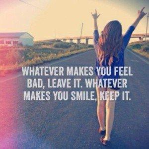 Do whatever makes you feel good