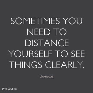 Distance To See Clearly
