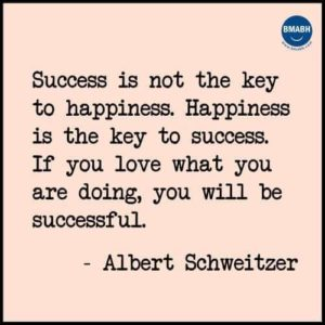 Success is not key to happiness, Happiness is key to success