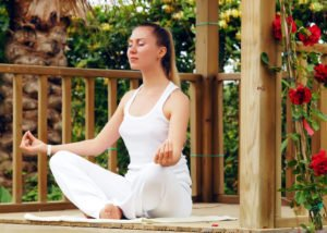 Calming Meditation Pose