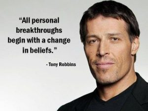 All personal breakthroughs begin with a change in beliefs